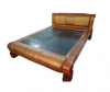 Cowhide Carbon Queen Bed$ 3,930